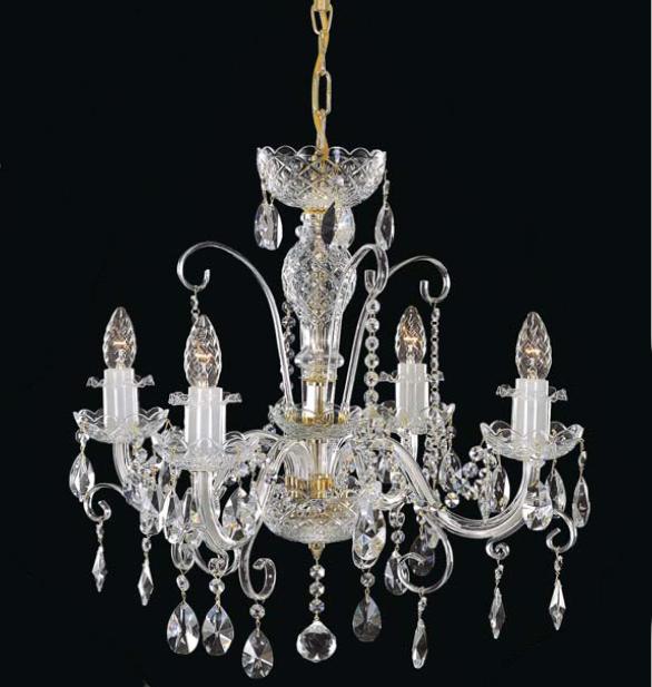 Czeski stylizowany żyrandol kryształowy Swarovski