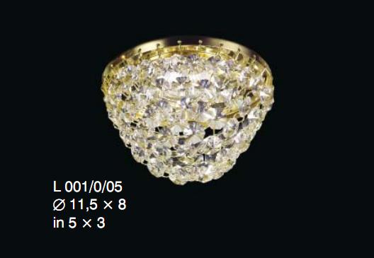 Oprawa halogenowa z kryształkami Swarovskiego