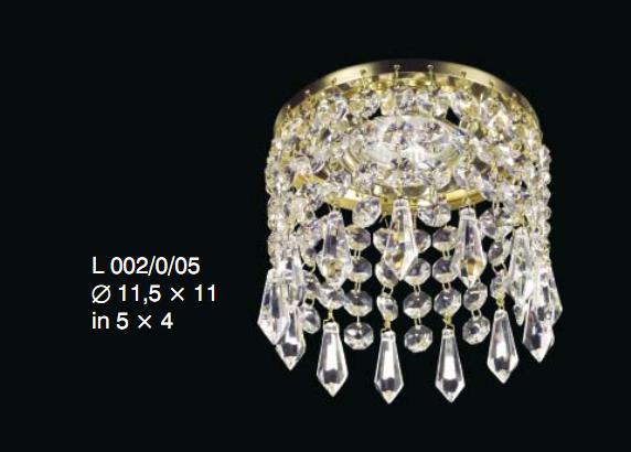 Kryształowa oprawa halogenowa z kryształami Swarovskiego