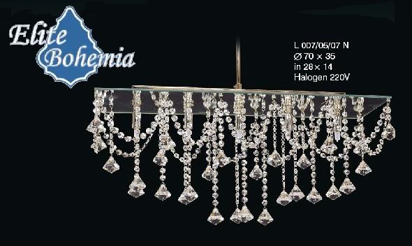 Nowoczesny plafon halogenowy z kryształkami Swarovskiego i lustrem