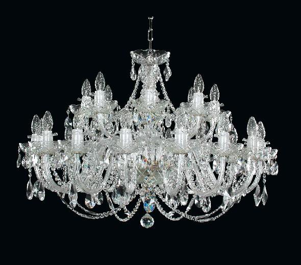 Duży żyrandol kryształowy do sali weselnej balowej restauracji lub domu weselnego