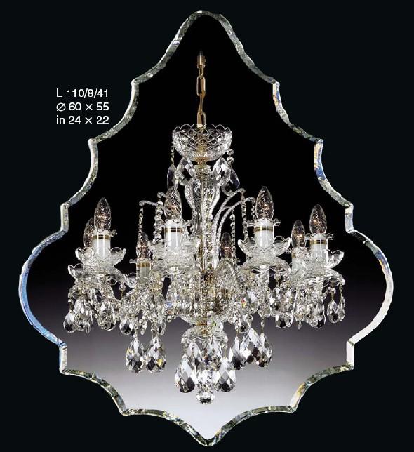 Klasyczny żyrandol ze szkła kryształowego z kryształkami Swarovskiego