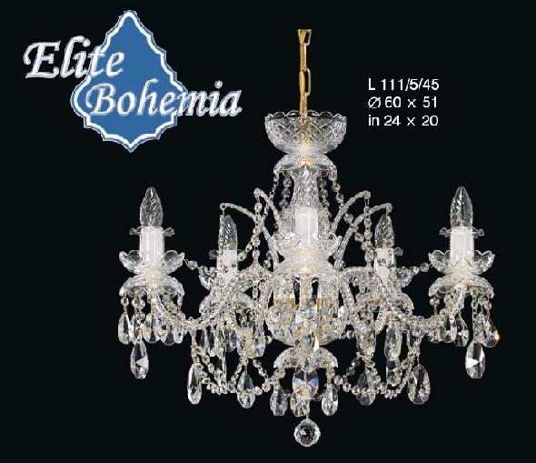 Stylowy żyrandol do sypialni lub salonu - klasyczny wzór zdobiony kryształami