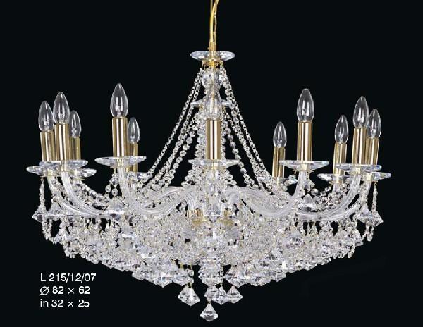 Kryształowy żyrandol na dwanaście żarówek do salonu lub apartamentu