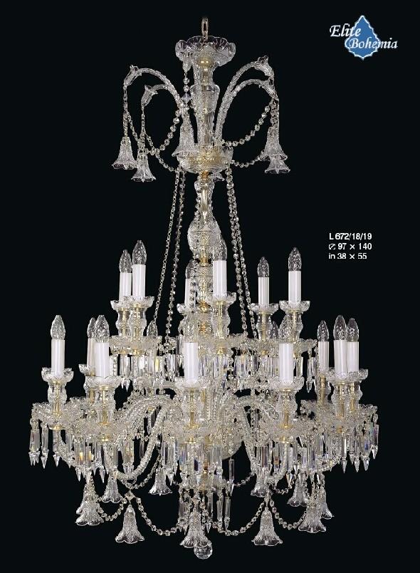 Kryształowy żyrandol do pałacu lub lobby hotelowego