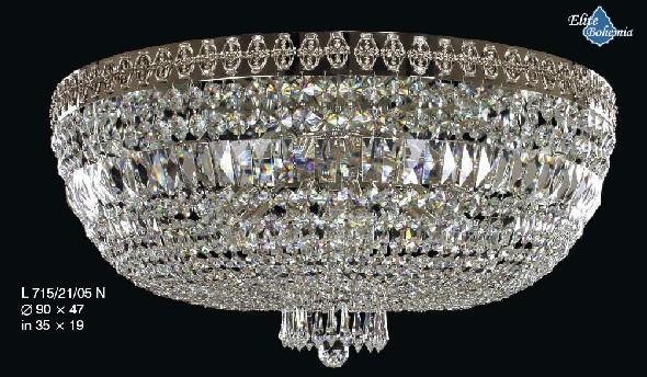 Plafon z kryształkami - żyrandol do restauracyjnej sali balowej weselnej bankietowej