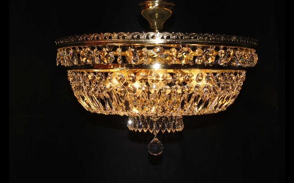 Sufitowa plafoniera kryształowa z lustrem Swarovskiego - Elite Bohemia