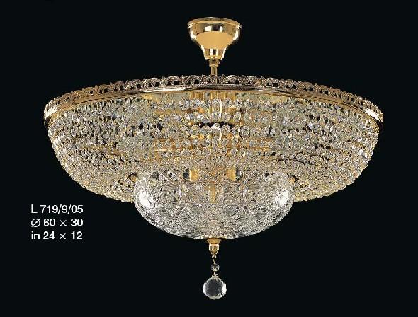 Lampa kryształowa - oświetlenie do salonu jadalni restauracji kawiarni