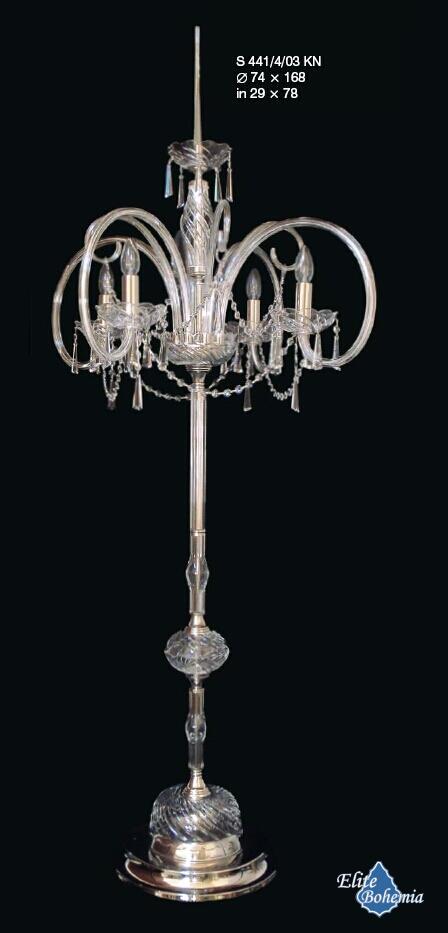Nowoczesna kryształowa lampa podłogowa do salonu sypialni gabinetu
