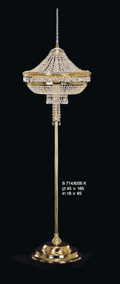 Ekskluzywna kryształowa lampa podłogowa stojąca z kryształami Swarovskiego