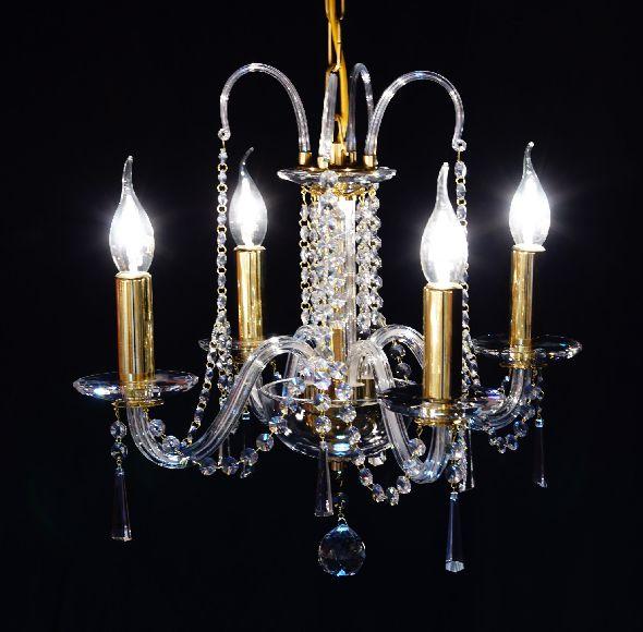 Żyrandol kryształowy do niewielkiego salonu lub małej sypialni