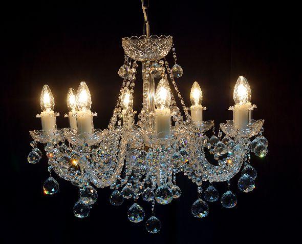 Stylowy żyrandol kryształowy z 67 kryształowymi kulami Swarovskiego