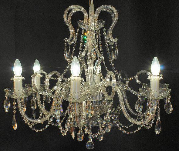 Dizajnerski żyrandol z kryształami Swarovskiego - do dużego salonu lub jadalni