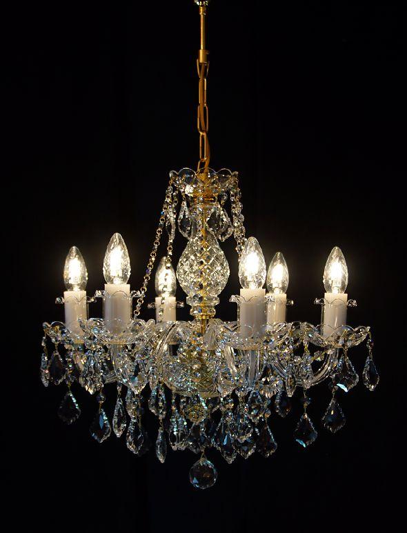 Efektowny czeski żyrandol z kryształami - Elite Bohemia