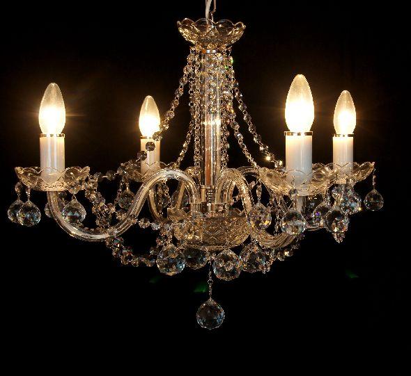 Żyrandol kryształowy do salonu - z 21 kryształowymi kulami