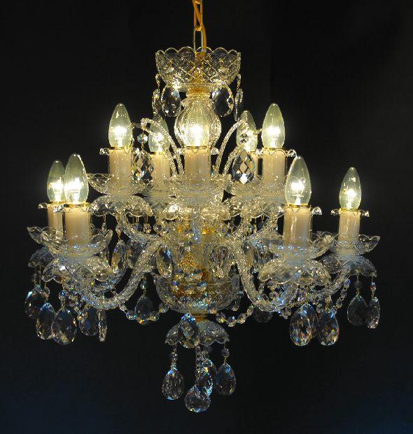 Stylowy żyrandol klasyczny - do salonu Lampa nad stół do jadalni