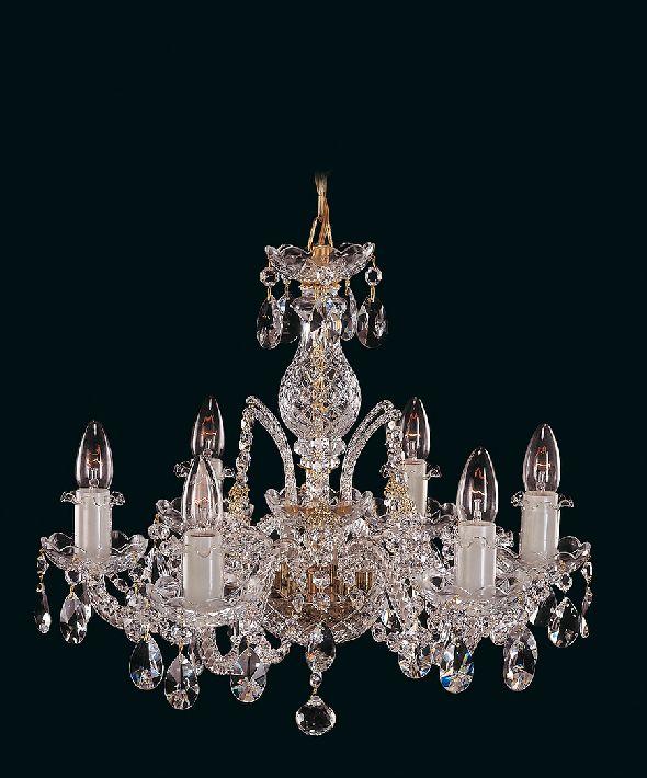 Stylowa lampa do sypialni lub salonu - z kryształami Swarovski