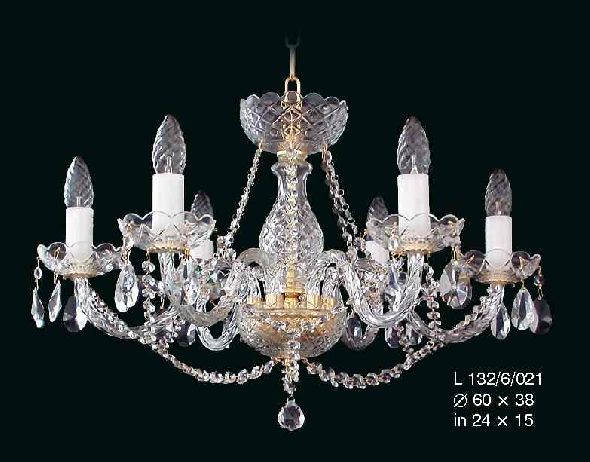 Modny żyrandol kryształowy do salonu lub sypialni z czeskimi kryształami Bohemia