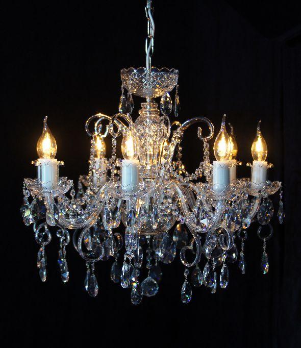 Klasyczny żyrandol kryształowy - Lampa kryształowa do salonu