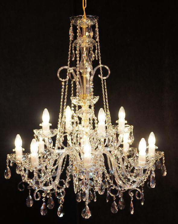 Żyrandol do wysokiego pomieszczenia (salonu) - Lampa kryształowa