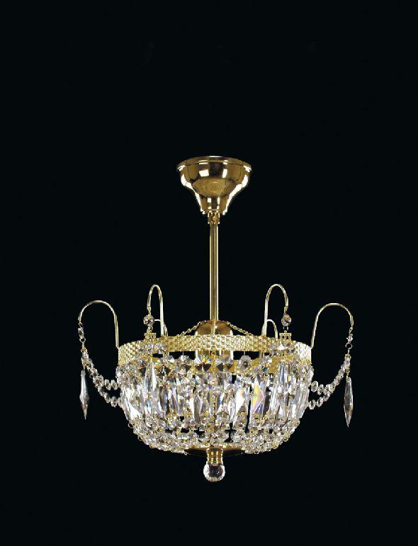 Mały plafon (żyrandol) z kryształkami Swarovskiego - do kuchni lub garderoby