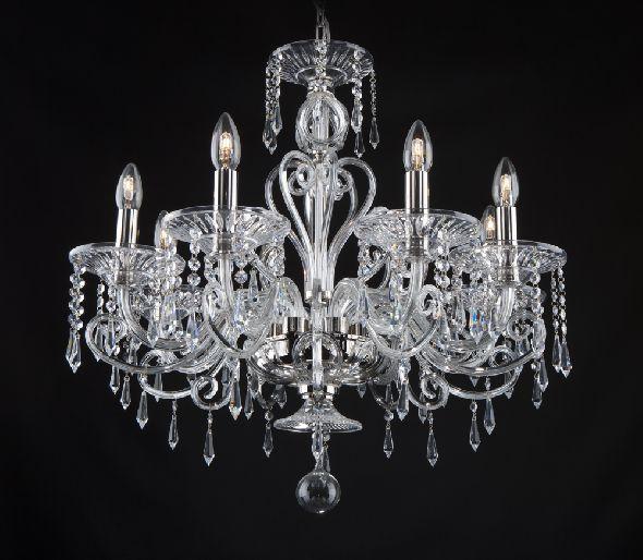 Ekskluzywny żyrandol kryształowy do nowoczesnego lub stylowego salonu
