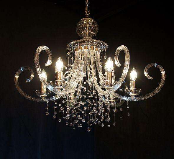 Nowoczesny żyrandol do salonu - z kryształkami Swarovskiego