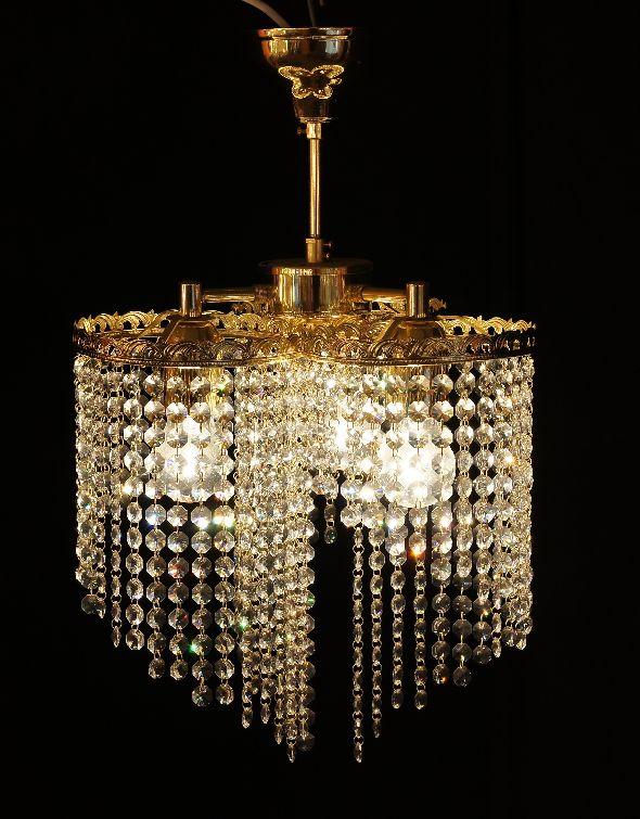 Nowoczesna lampa kryształowa na trzy żarówki - Swarovski