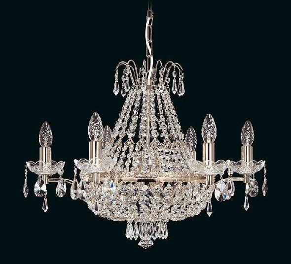 Lampa kryształowa - żyrandol plafon w kształcie gruszki (kosza)