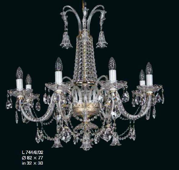 Klasyczna lampa do wysokiego salonu - z kryształami Swarovski