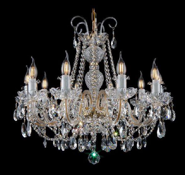 Ekskluzywna lampa do salonu lub jadalni - kryształy Swarovski