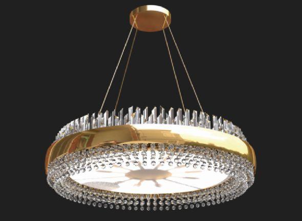 Ekskluzywny nowoczesny plafon Led z kryształami Swarovski