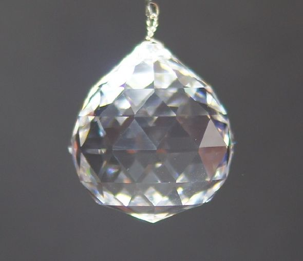 Duża kryształowa kula z kryształu Swarovskiego - pozytywne feng shui