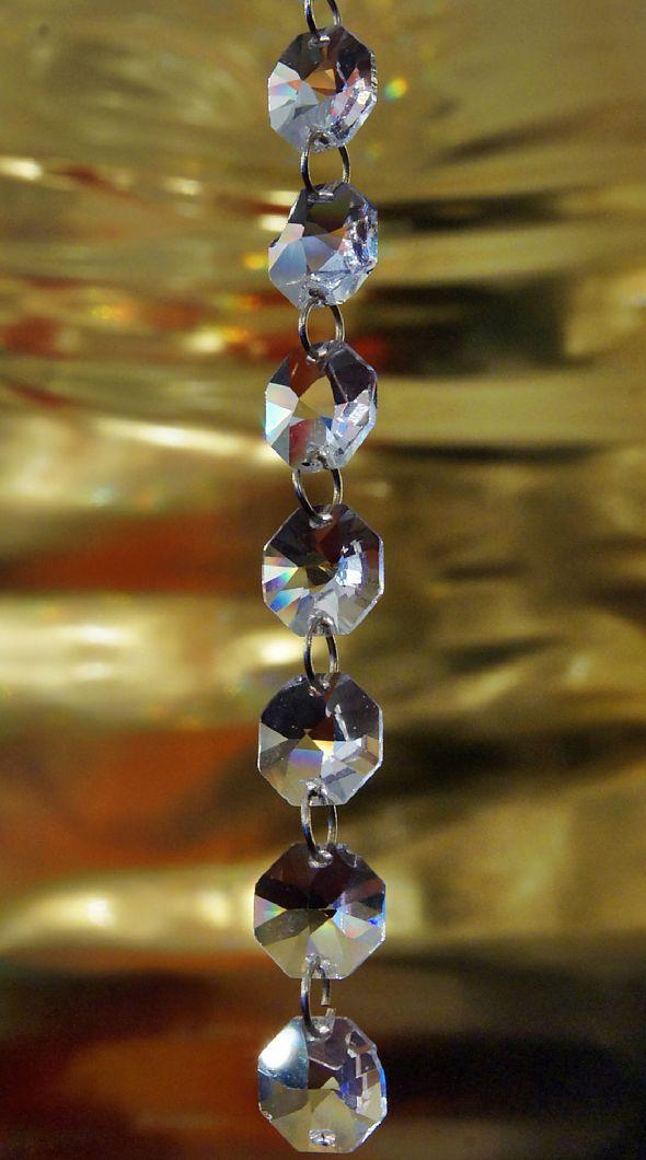Łańcuszek z kryształków Swarovskiego - oktagony (koraliki) Swarovski Spectra